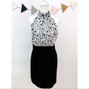 Dresses & Skirts - Sleeveless Layered Mock Neck Dress w/Keyhole Back